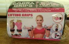 COBRA GRIPS FIT WOMEN Weight Lifting Grips Power Pads BLACK NEW
