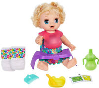 Baby Alive Happy Hungry Baby Doll - Blonde Curly Hair Kid Toy Gift