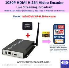 1080P HDMI WiFi H.264 encoder for HTTP RTMP Facebook Live YouTube 2 live streams