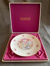 Royal Doulton Valentines Day Plate Nib 1977 Eternal Valentine