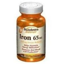 Sundown Naturals Iron 65 mg Tablets 120 Tablets