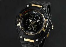 Q&Q GW80J-001Y By Citizen Black Dial Analog Digital Men's Sport Watch 52mm