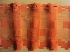 REST 21,5 m Kurzgardine Scheibengardine Panneaux orange 30 Höhe Stangendurchzug