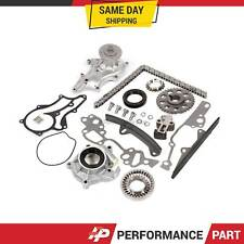 85-95 Toyota 22R 22RE Water Pump Oil Pump Timing Chain Kit w/ 2 Metal Guides