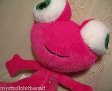 "PINK MONSTER ALIEN UFO w BIG GREEN EYES / SNOWFLAKE 9"" Plush Stuffed Toy~Dan Dee"