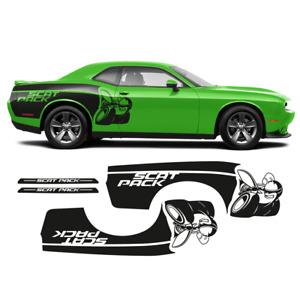 SCAT PACK rear fender graphics for Dodge Challenger 2008 - 2020 in one color
