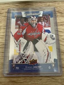 2017-18 Upper Deck Compendium Achievement Blue Braden Holtby SP3