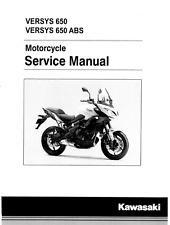 Kawasaki Versys 650 & ABS 2015 2016 2017 service manual binder