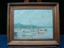 European Sydney March Fishing Boats Painting