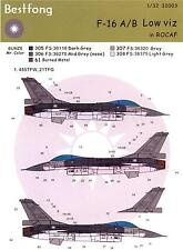 Bestfong Decals 1/32 GENERAL DYNAMICS F-16 FALCON Lo Viz Chinese Air Force