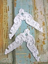 SHABBY & CHIC FURNITURE APPLIQUES*VICTORIAN CORNERS ( 2 PC )