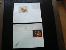FRANCE - 2 enveloppes 1966 1973 (cy10) french