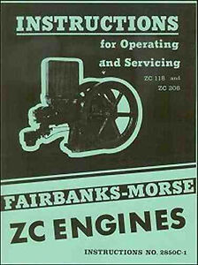 Fairbanks Morse ZC 118 and ZC 208 Engines Instruction Manual