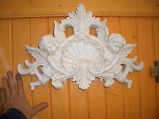 ffSuperbe bas relief ange baroque 44cms plâtre statuaire 3001