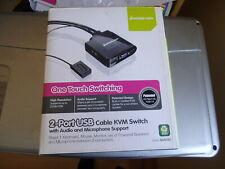 IOGEAR GCS72U -2 Port USB Cable KVM Switch w/ Audio & Microphone Support