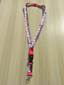 Wales Lanyard with metal clip - with safety breakaway - 80cm x 2cm
