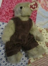 Vintage 1993 TY Collectible ABBY The Bear With Tags Light Tan In Brown Jumper