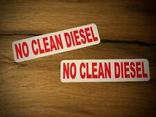 2x NO CLEAN DIESEL Aufkleber Sticker Umweltzone Abgas Feinstaub Plakette #137