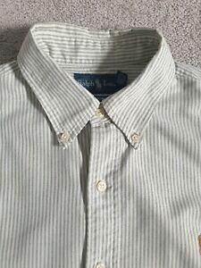 Ralph Lauren Mens Custom Fit Long Sleeve Shirt - Size M Button Collar