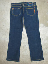 Genetic Denim Straight Crop Jeans Womens Sz 30  Dark Blue L26.5 USA Made