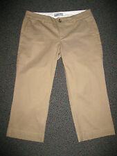 ESPRIT Tan/Taupe/Beige Chino-Canvas 3/4-Length Pants, Size 10, NWOT & Esprit top