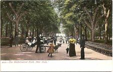 The Mall-Central Park - Nyc, New York Applied Glitter Undivided Back Postcard