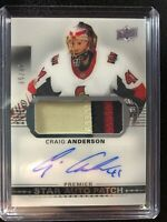 2017-18 UD Premier Craig Anderson Senators Star Auto 3 Color Patch /49