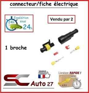 connecteur de fiche électrique tout véhicule pour 1 branchement vendu par 2