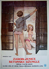 THE CONCRETE JUNGLE-JILL ST. JOHN/B.LUNA-ORIGINAL YUGOSLAV MOVIE POSTER 1983