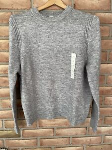 NWT A New Day Women's Gray Long Sleeve Crew Neck Pullover Knit Sweater Size M