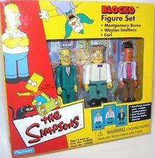 Simpsons Blocko Figure Set NIB Mr Burns Waylon Smithers Carl Playmates