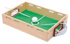 Gioco in legno da tavolo vintage calcio calcetto soffia la palla con cannuccia