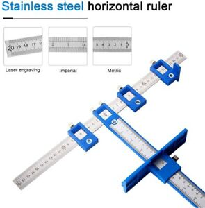 Drill Punch Locator, Adjustable Drill Guide Sleeve Cabinet Hardware Jig Drawer P