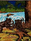 """Bear Soft Wall Tapestry Vintage 39 1/2"""" X 58 1/2""""~~~C6"""