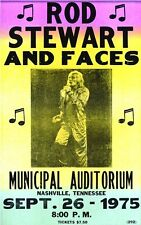 Music Poster Reprint Rod Stewart and Faces Nashville 1975