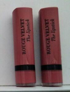 Bourjois Paris Rouge Velvet The Lipstick X 2 05 Brique A Brac New