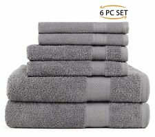 SweetNeedle Daily Use 100% Cotton Face Hand Bath 6 Pieces Bathroom Towel Set New