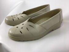 SIMONA Schuhe, Halbschuhe, beige, Größe 39,5, Leder