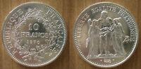 France 10 Francs 1970 Hercule Silver Coin Europe Frcs Frs Frc Free Ship World