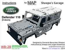 Sheepo's Lego Technic Land-Rover Defender 110 5d Bodywork(MAP) ONLY INSTRUCTIONS