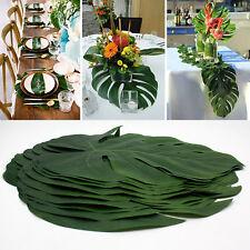 12pcs Artificial Tropical Palm Leaves Hawaiian Simulation Home Beach Party Decor