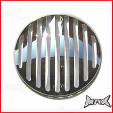 7 INCH Chrome Prison Bar Grill Metal Headlight Guard Cover Protector