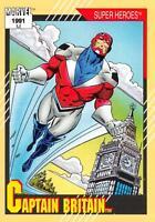 CAPTAIN BRITAIN / Marvel Universe Series 2 (Impel 1991) BASE Trading Card #12