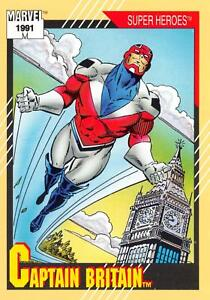 CAPTAIN BRITAIN / Marvel Universe Series 2 (Impel 1991) BASE Trading Card #12