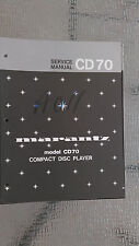 Marantz Service Manual CD-70 compact disc player cd Original Factory Repair book