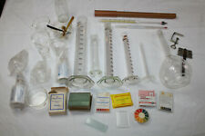 Konvolut Laborglas Kolben Zylinder Glas Becher Objekträger Thermometer etc.