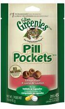 Feline Greenies Pill Pockets Salmon 45 count 1.6 oz | Cat Medicine Treats