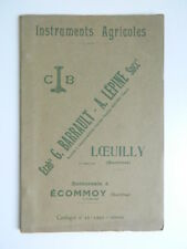 80 LOEUILLY catalogue commercial Agricoles BARRAULT-LEPINE 45 p. ill. tarif 1930