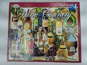 White Mountain #798 WINE COUNTRY 1000 Piece Puzzle by Rosiland Solomon COMPLETE