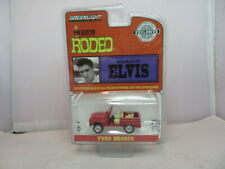 1/64 GREENLIGHT HOLLYWOOD ELVIS HOUSTON RODEO 1974 FORD BRONCO RED
